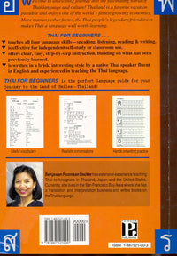 Thai for Beginners - Book 9781887521000 - back cover
