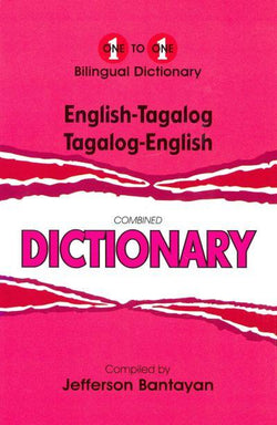 Exam Suitable : English-Tagalog & Tagalog-English One-to-One Dictionary