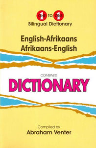 Exam Suitable : English-Afrikaans & Afrikaans-English One-to-One Dictionary 9781908357229