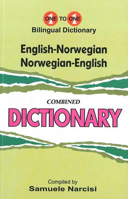 Exam Suitable : English-Norwegian & Norwegian-English One-to-One Dictionary