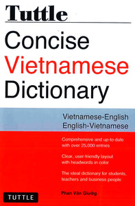 Tuttle Concise Dictionary : Vietnamese-English & English-Vietnamese - 9780804843997 - front cover