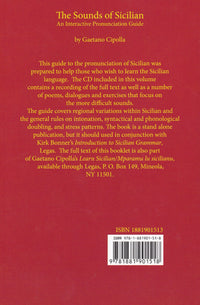 The Sounds of Sicilian - pronunciation guide - 9781881901518 - back cover