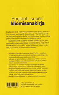 English-Finnish Dictionary of Idioms - 9789512096596 - back cover
