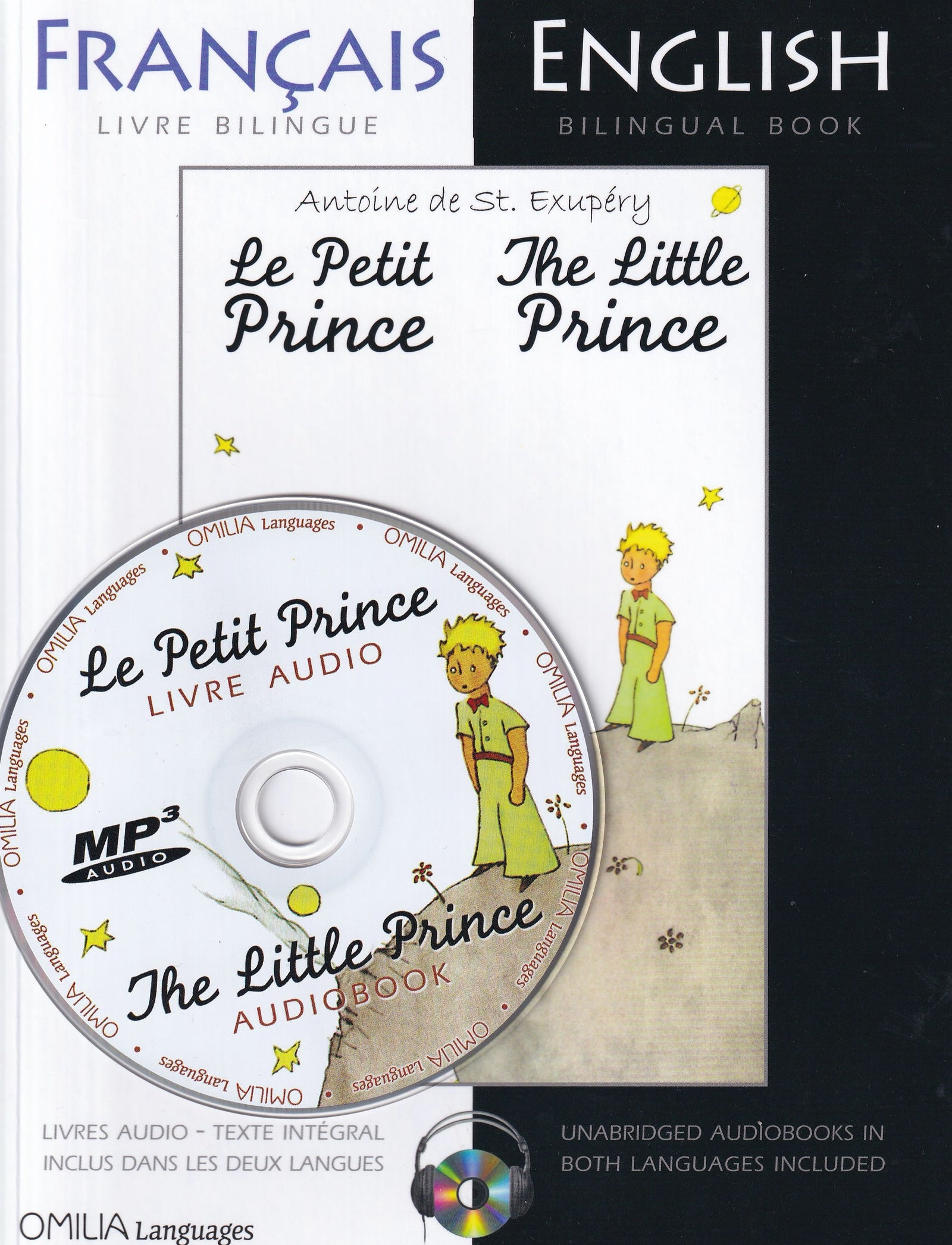The Little Prince: French/English Bilingual Reader. Book and free audio CD - 9780956721594 - front cover