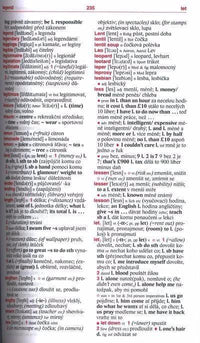 English-Czech & Czech-English Student Dictionary 9788073353322 - sample page
