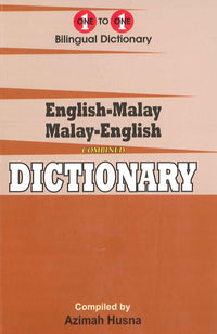 English-Malay & Malay-English One-to-One Dictionary (exam-suitable) - 9781912826117 - front cover