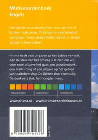 Prisma Pocket Dictionary: English-Dutch & Dutch-English 9789049104696 -  back cover