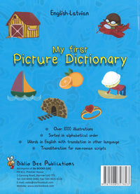 My First Picture Dictionary: English-Latvian 9781908357823 - back cover