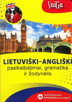 Lithuanian-English phrase book & dictionary - with audio - 9786094401237 - front cover
