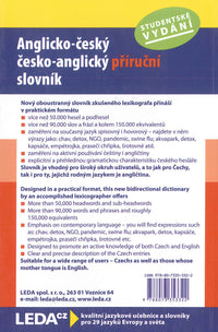 English-Czech & Czech-English Student Dictionary - 9788073353322 - back cover