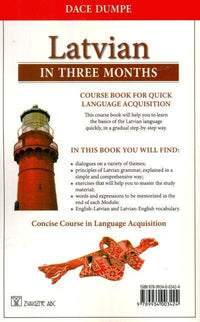 Latvian in Three Months - A concise Latvian course 9789934003424 - back cover