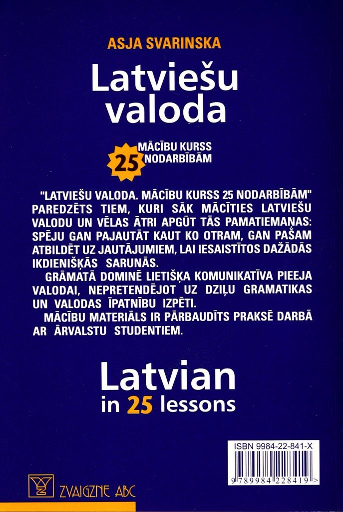 Latvian In 25 Lessons Course For Beginners Bay Foreign Language