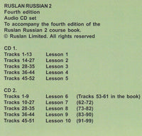 Ruslan Russian 2:  2 audio CDs only - 9781912397167 - 4th edition - back cover