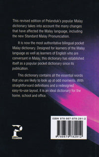 Pocket Malay Dictionary: English-Malay & Malay-English - 9789679782912 - back cover