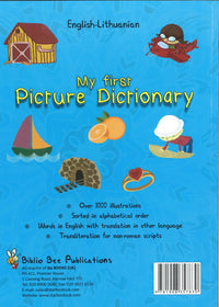 My First Picture Dictionary: English-Lithuanian 9781908357830 - back cover