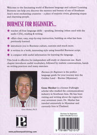 Burmese for Beginners - Pack (Book and 3 audio CDs)