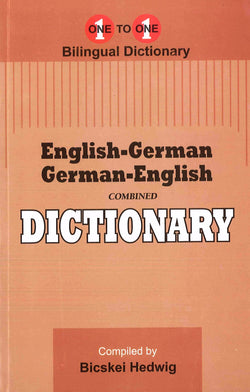 Exam Suitable : English-German & German-English One-to-One Dictionary