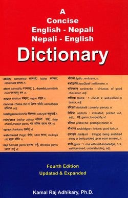 Concise English-Nepali & Nepali-English Dictionary 9789937551533 - front cover