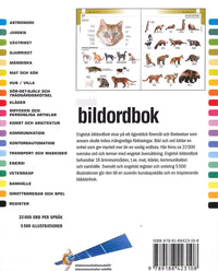 Illustrated Swedish Picture Dictionary - Swedish-English & English-Swedish 9789188423108 - back cover