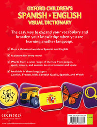 Oxford Children's Spanish-English Visual Dictionary 9780192733733 - back cover