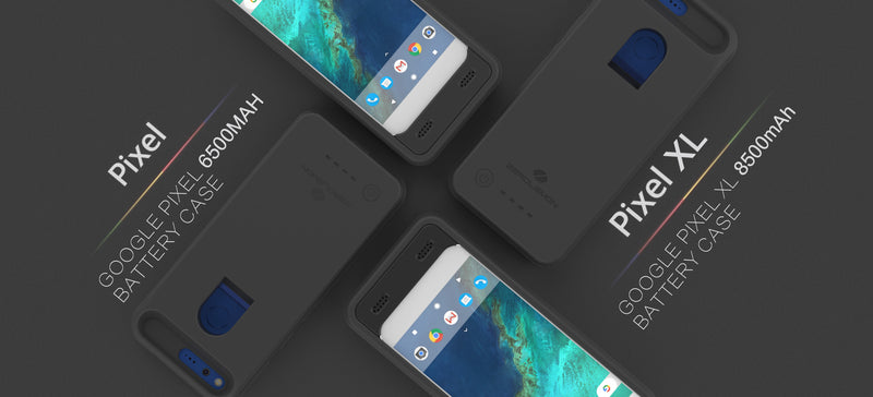 Launch for Google Pixel 6500mAh Extended Battery Case and Pixel XL 8500mAh Extended Battery Case
