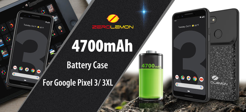 ZeroLemon Battery Charging Case for Google Pixel 3 and Google Pixel 3 XL