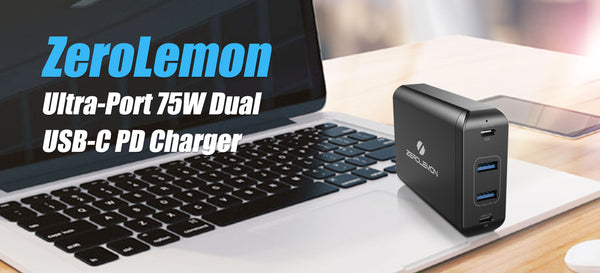 ZeroLemon Launches Amazing new 75W Dual USB-C PD 4-Port Desktop Charger with 60W Power Delivery