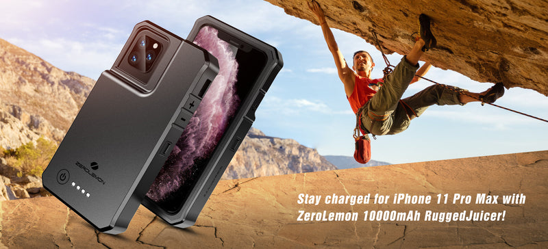 Zerolemon Announces iPhone 11 Pro Max RuggedJuicer Battery Charging Case Perfect for Drivers, Army, And Outdoor Users