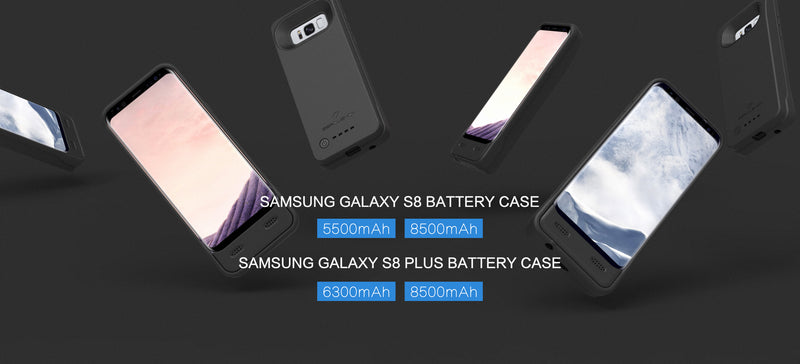 Launch of Battery Cases for Galaxy S8 Mobile Phone: 5500mAh and 8500mAh