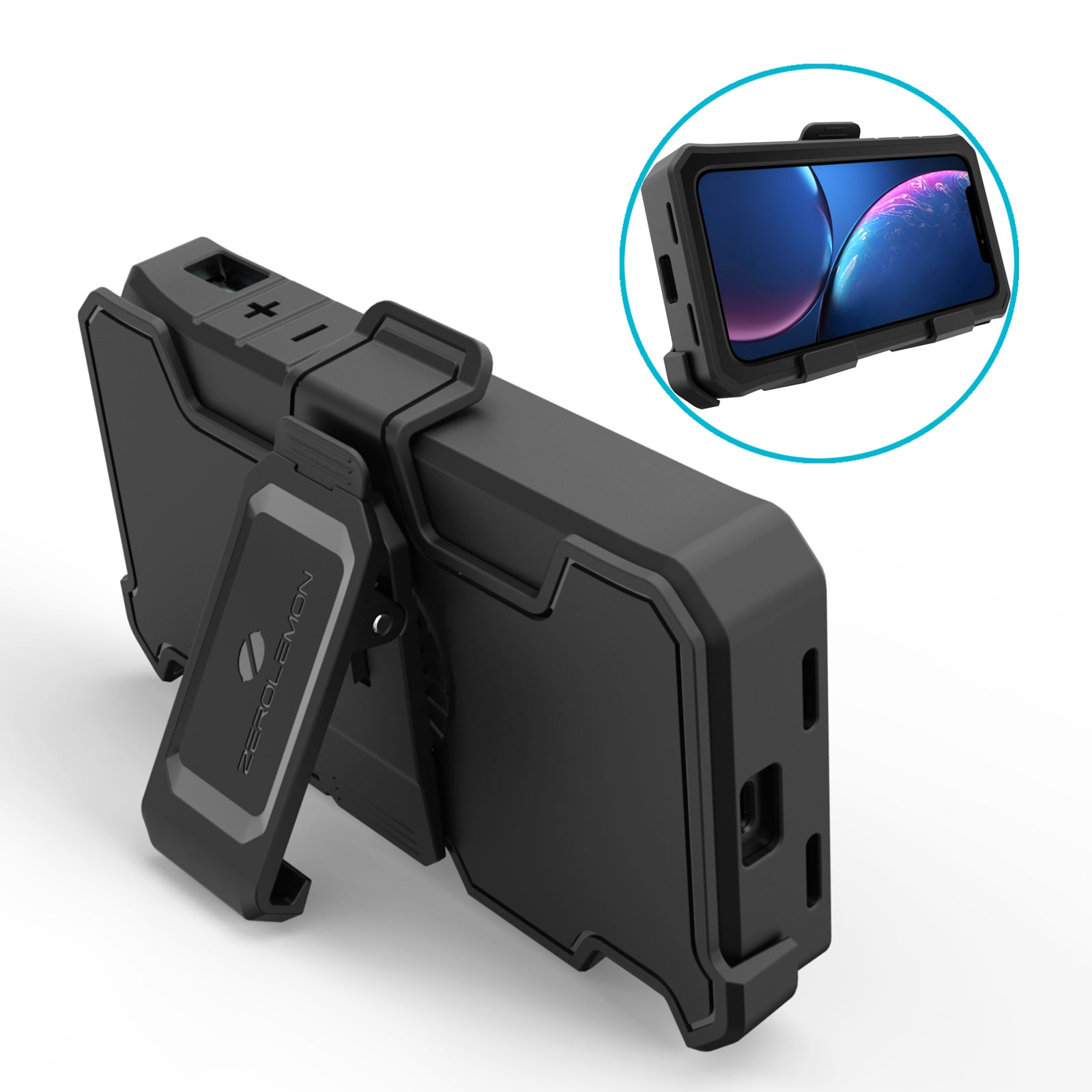 Belt Clip Holster for ZeroLemon iPhone XR 8000mAh Battery Case