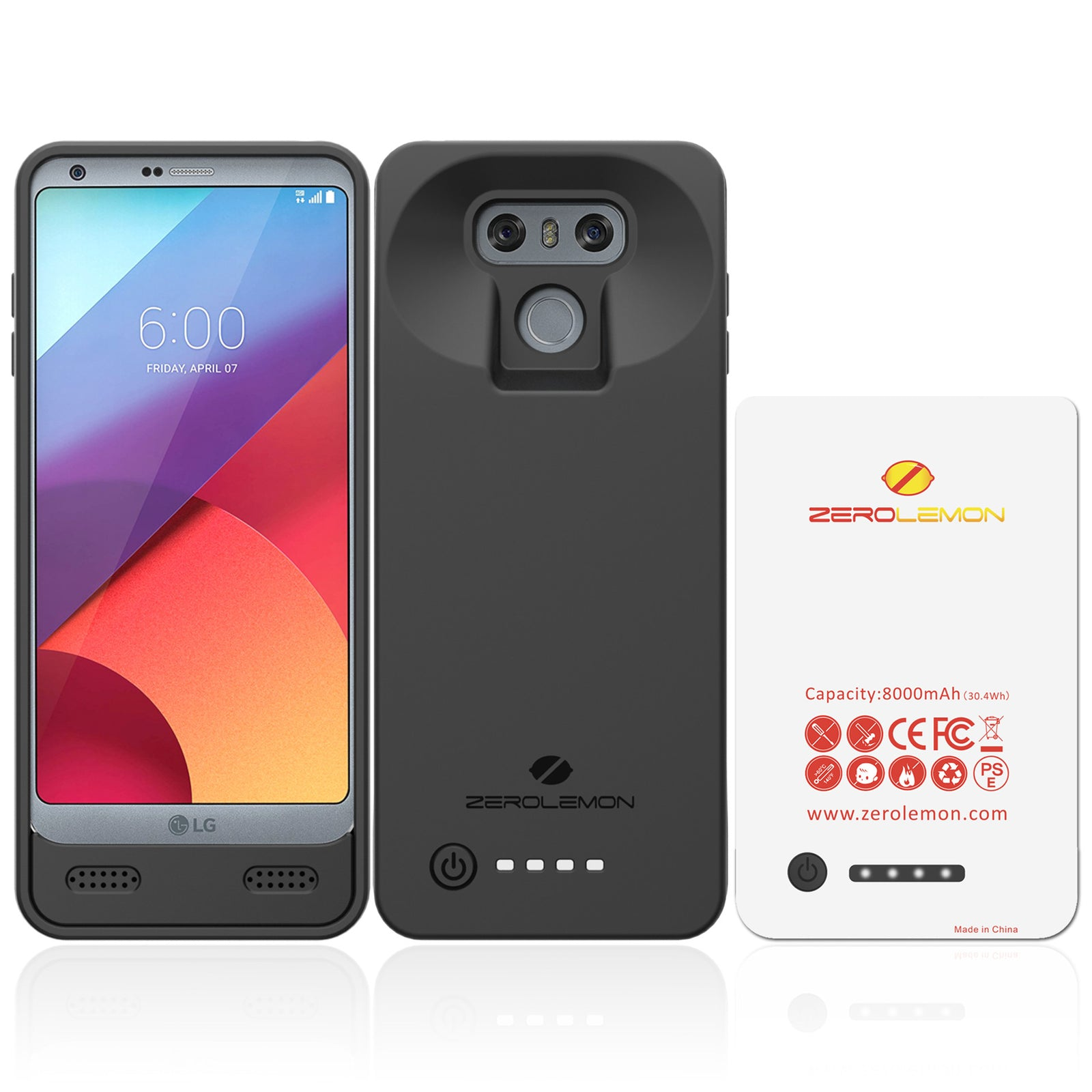 LG G6 Extended Battery Case 8000mAh
