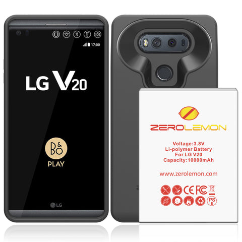 Zerolemon Galaxy Note 3 10000mah Extended Battery + ZeroShock Shockproof Rugged Case, including 10000mah Battery, Holster KickStand and Screen Protector