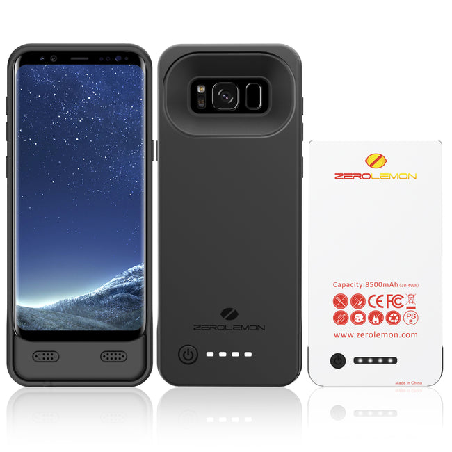 Galaxy S8 8500mAh Extended Battery Case Black