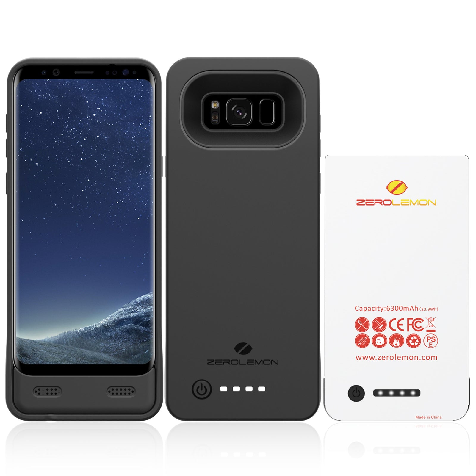 Galaxy S8 Plus Wireless Charging Out Battery Case 5500 mAh + FLIR One Support
