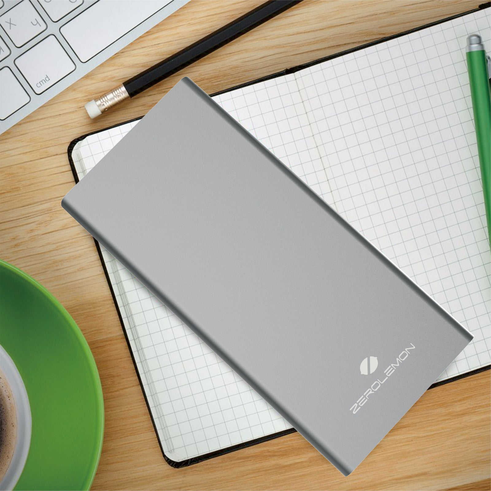 Power Bank 15200mAh Fast Charger - Gray  [Shipping to Japan Only]