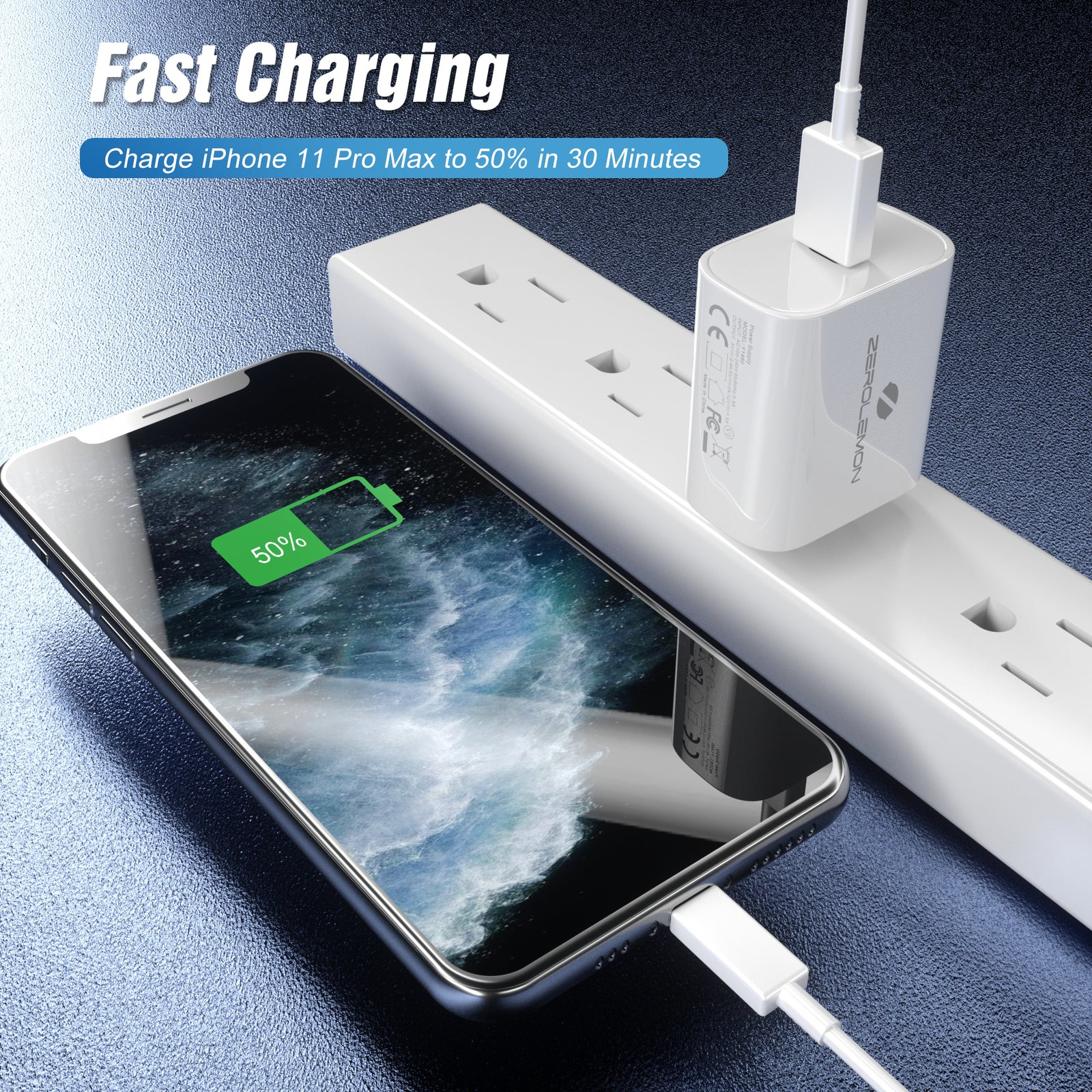 18W USB-C PD Charger White