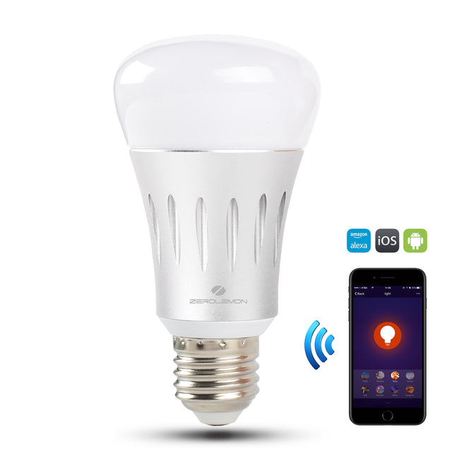 WiFi Smart Led Light Bulb Silver - 1 Pack [Shipping to US Only]