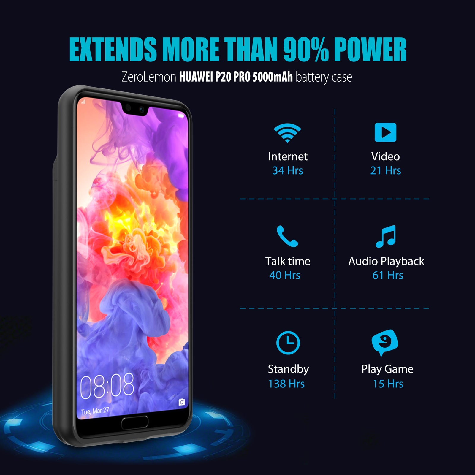 HUAWEI P20 Pro Battery Case 5000mAh