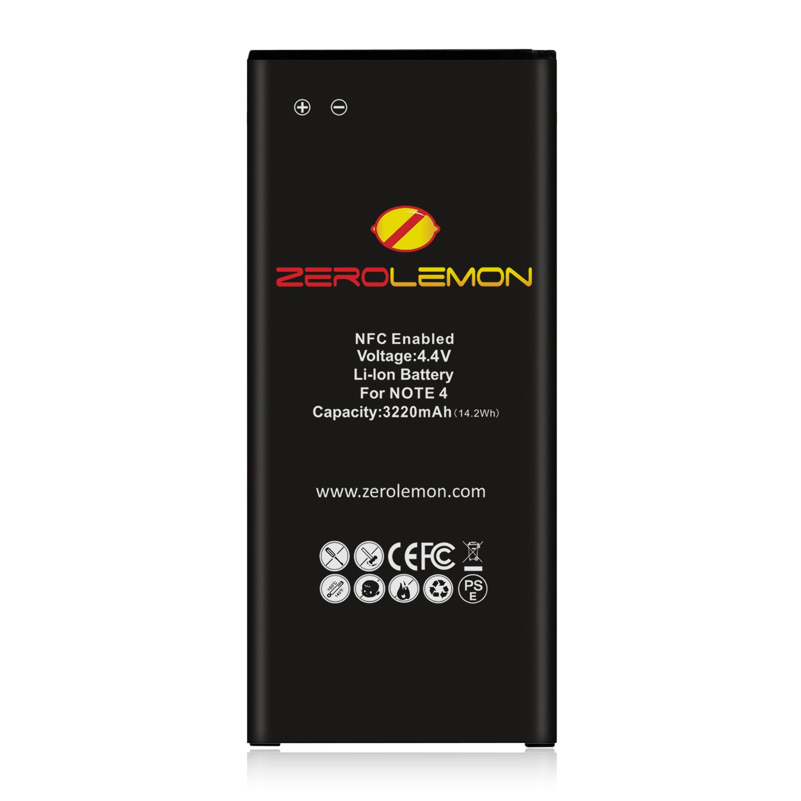 Zerolemon Galaxy Note 4 3220mAh Slim Battery - 1 Pack