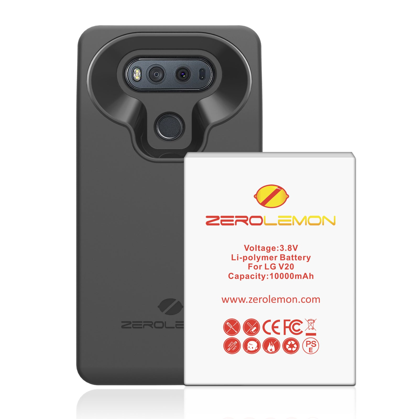 outlet store b0cd5 2ac10 LG V20 Battery Case 10000mAh– ZEROLEMON