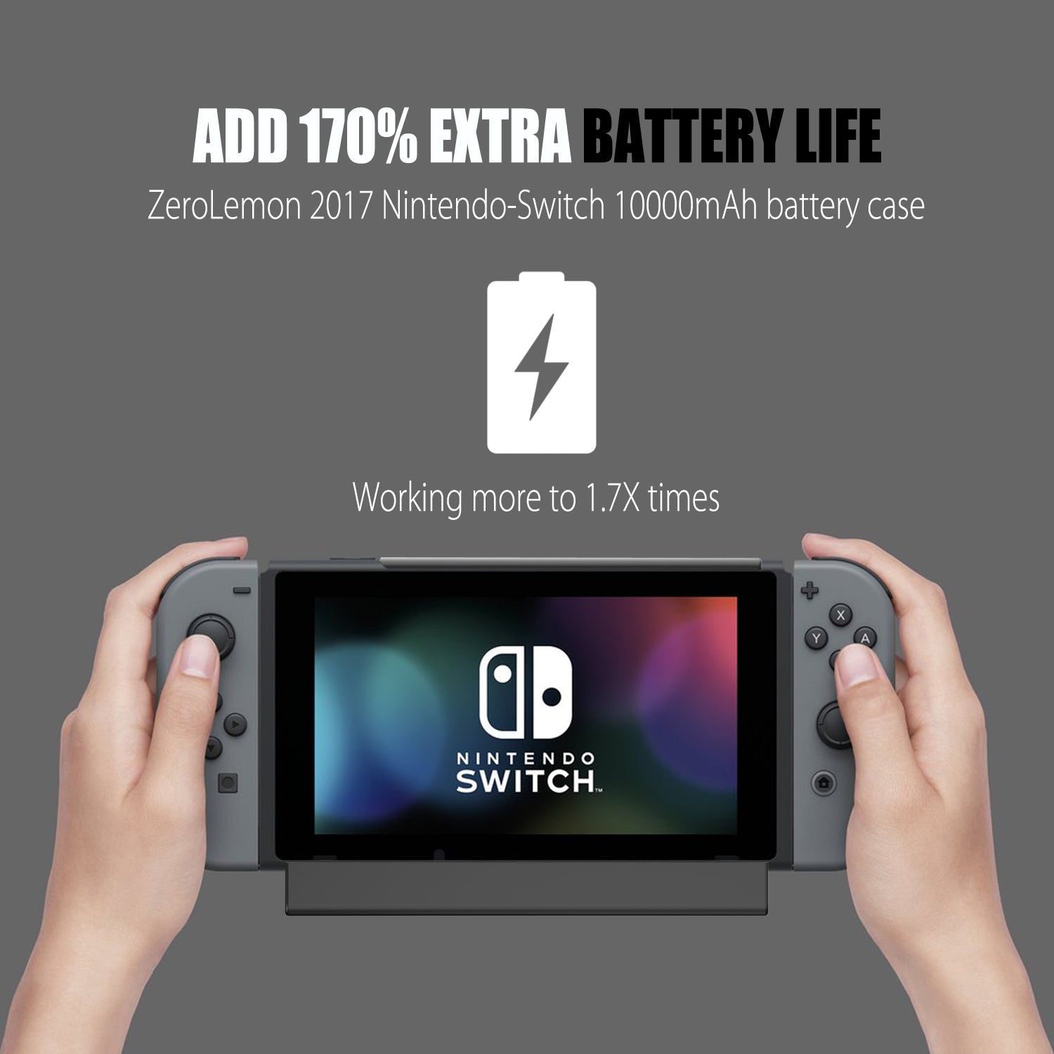 Nintendo Switch Battery Charger Case 10000mAh [Shipping to US Only]