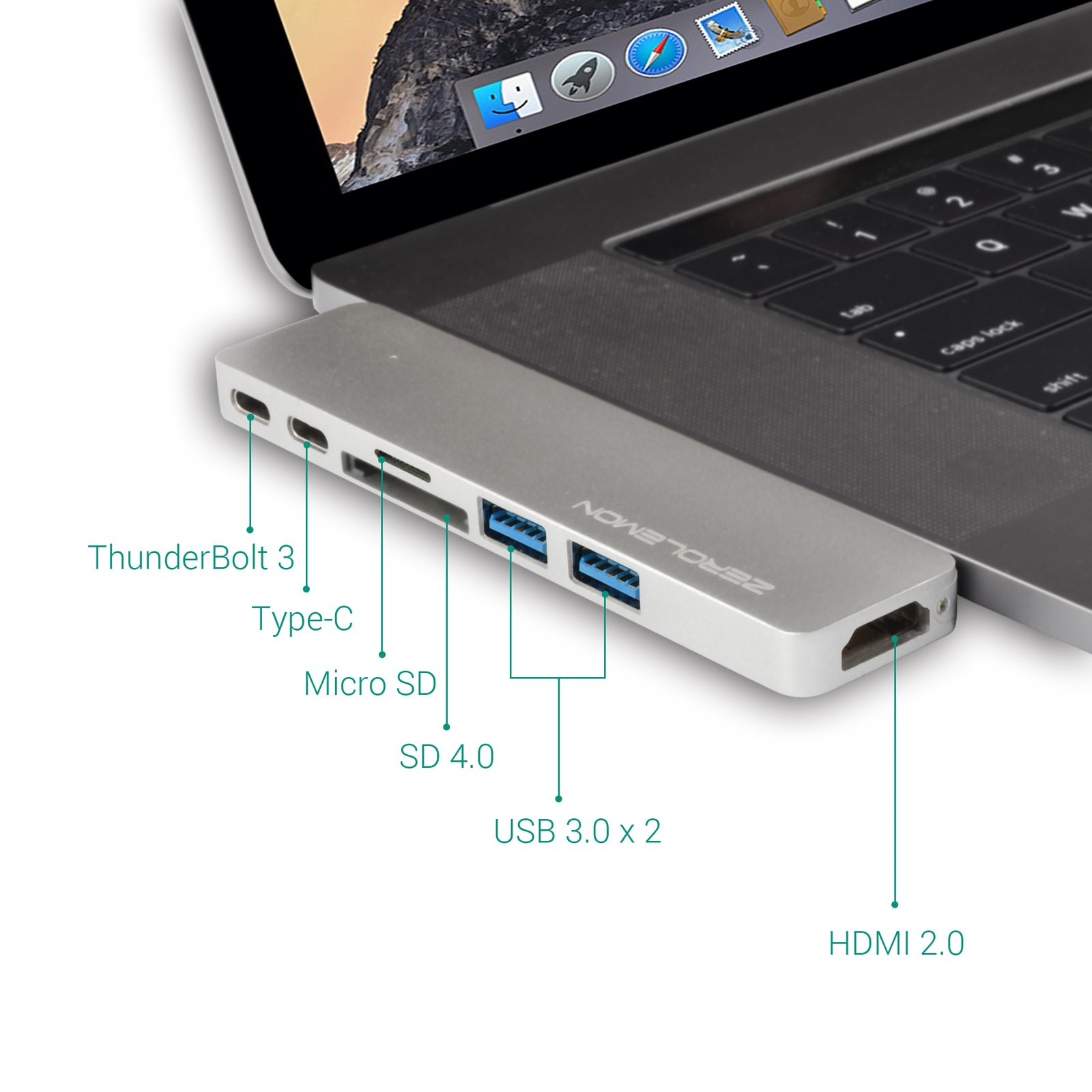 iMemPro Type-C Hub Adapter for Apple MacBook Pro 2016&2017 [Shipping to US Only]
