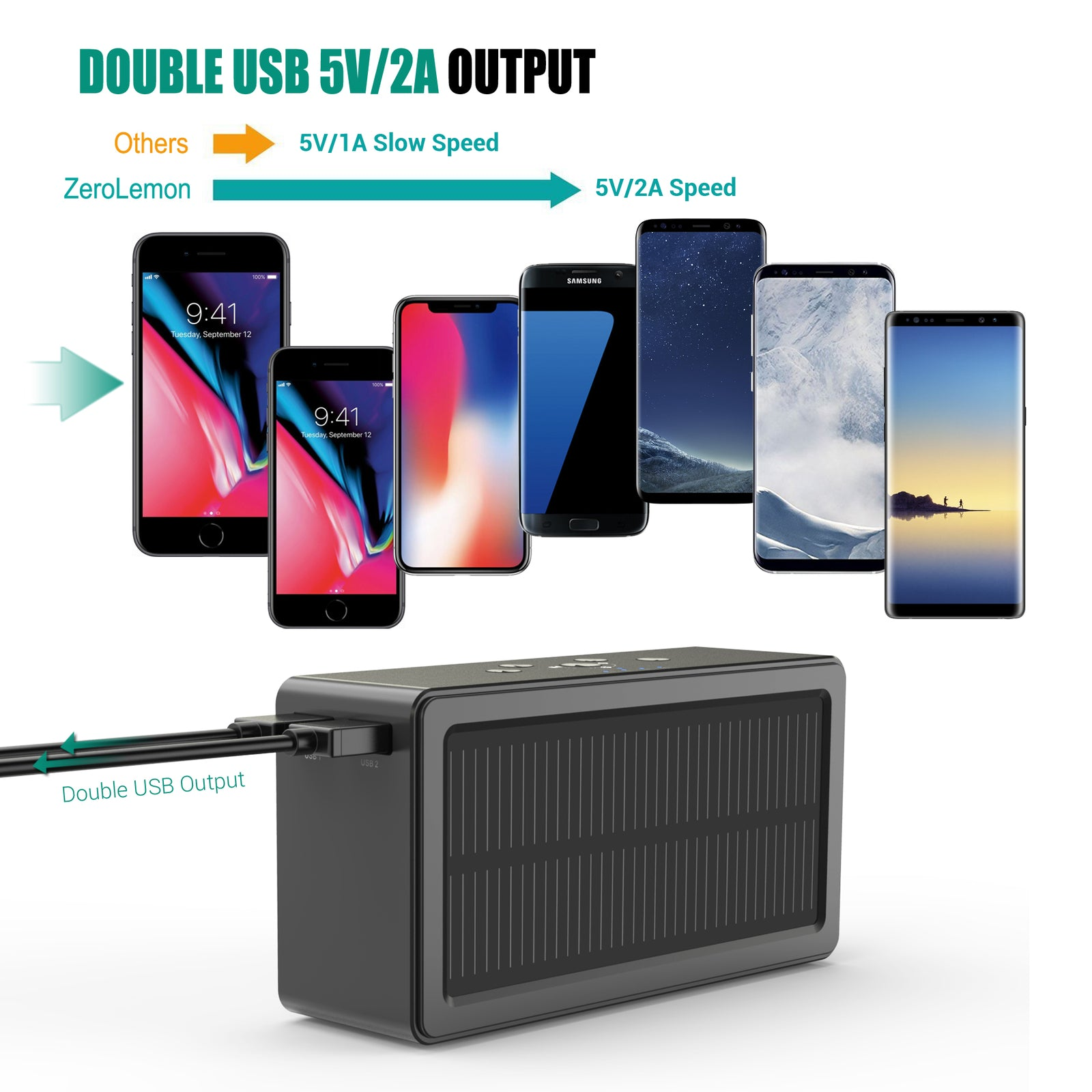 SolarSound Portable Wireless Bluetooth Speaker/Power Bank