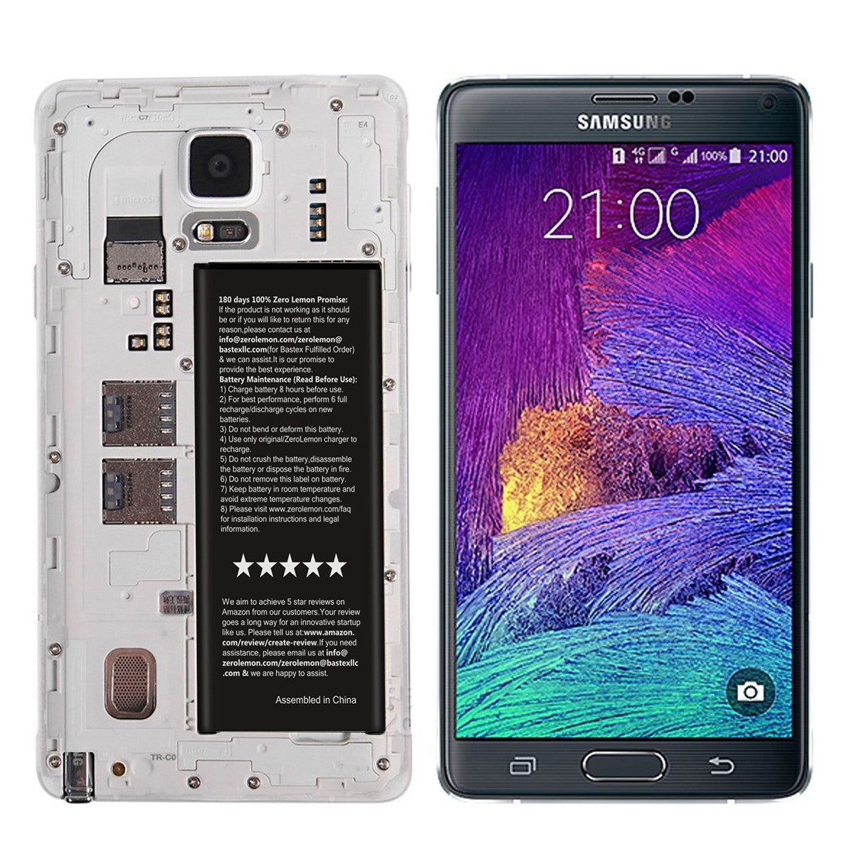 Galaxy Note 4 3220mAh Replacement Battery[2 Pack] [Shipping to US Only]