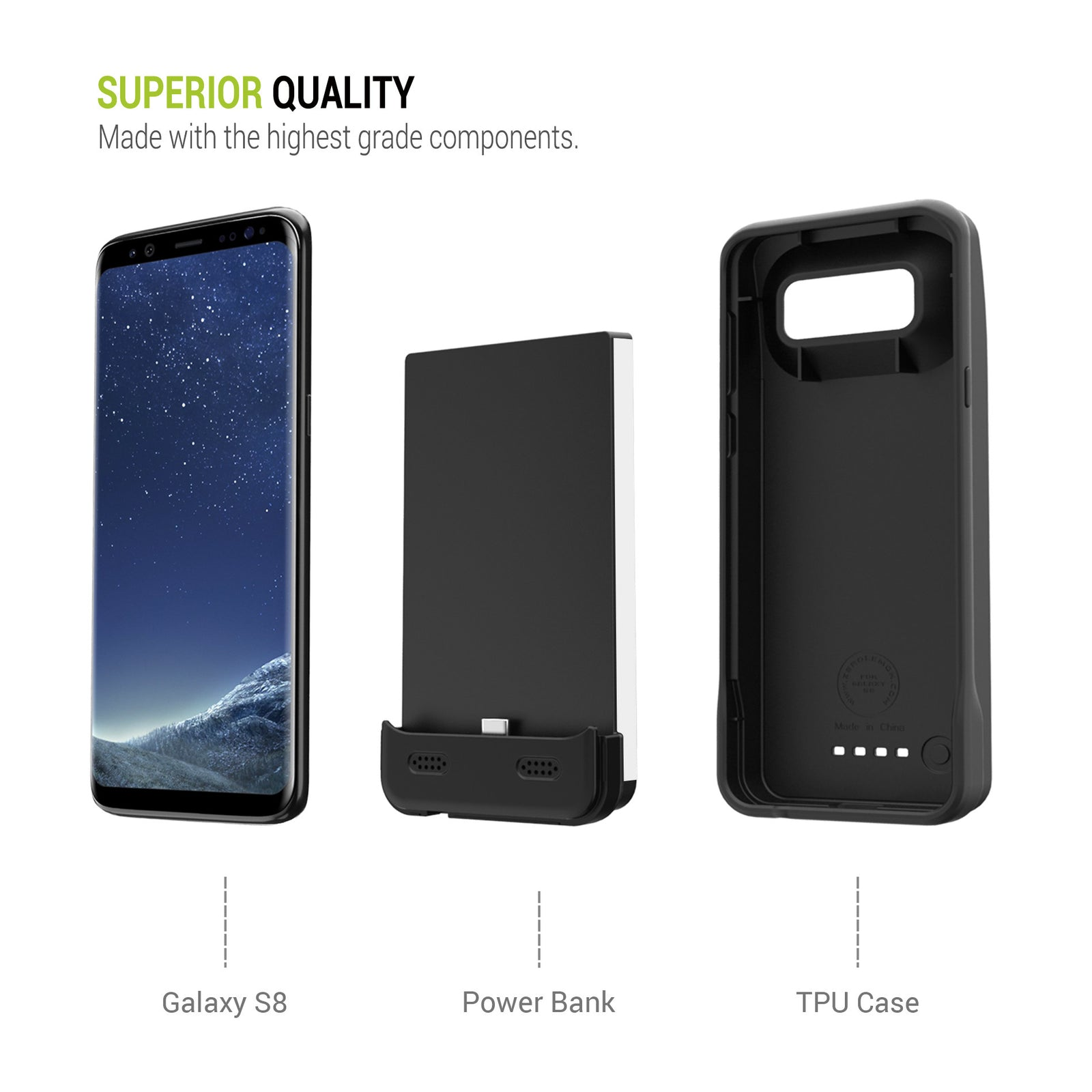 Galaxy S8 Battery Case 5500mAh