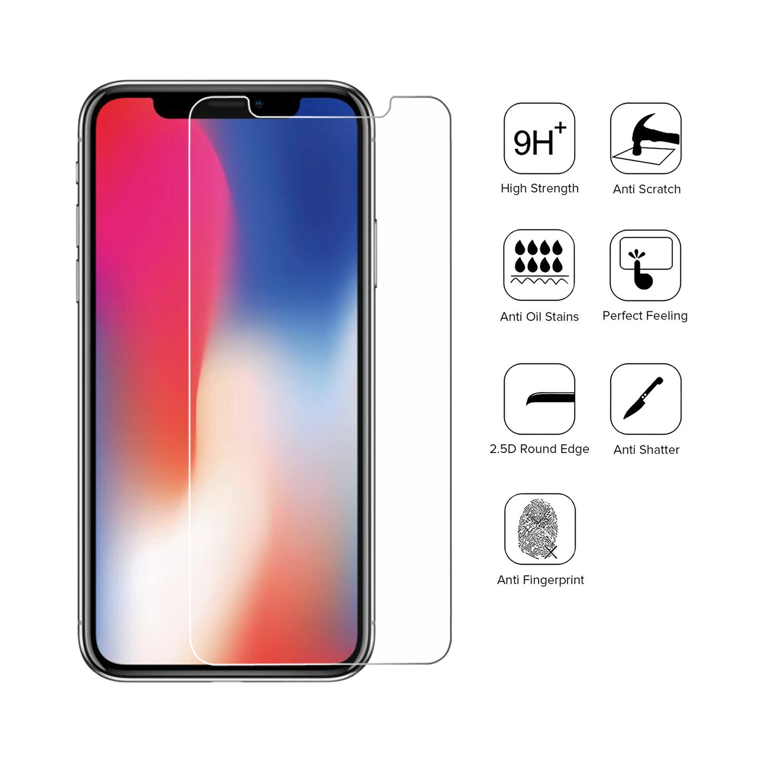 iPhone X Glass Screen Protector - 3 Pack [Shipping to US Only]