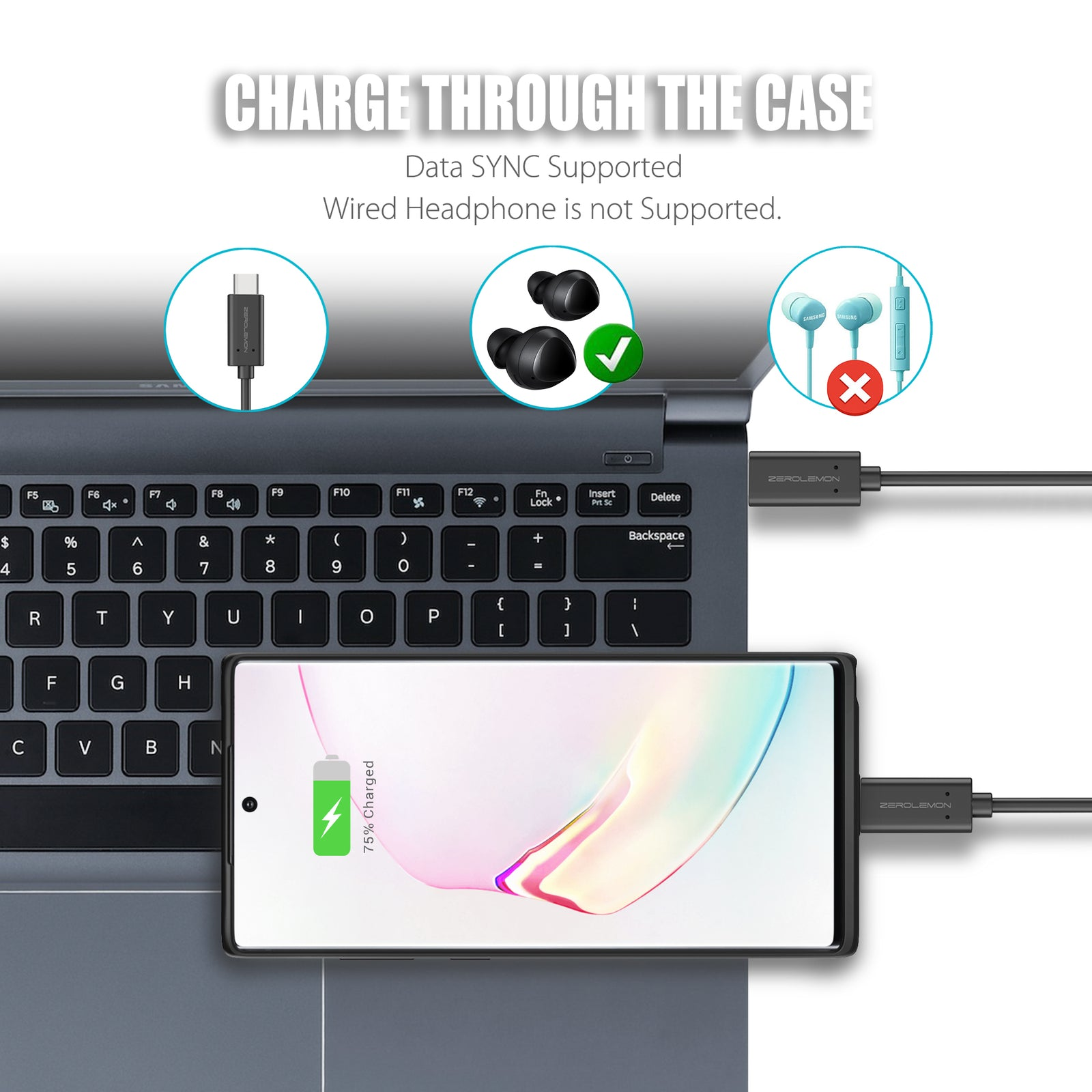 Galaxy Note 10+ 5G Wireless Charging Battery Case 5000mAh