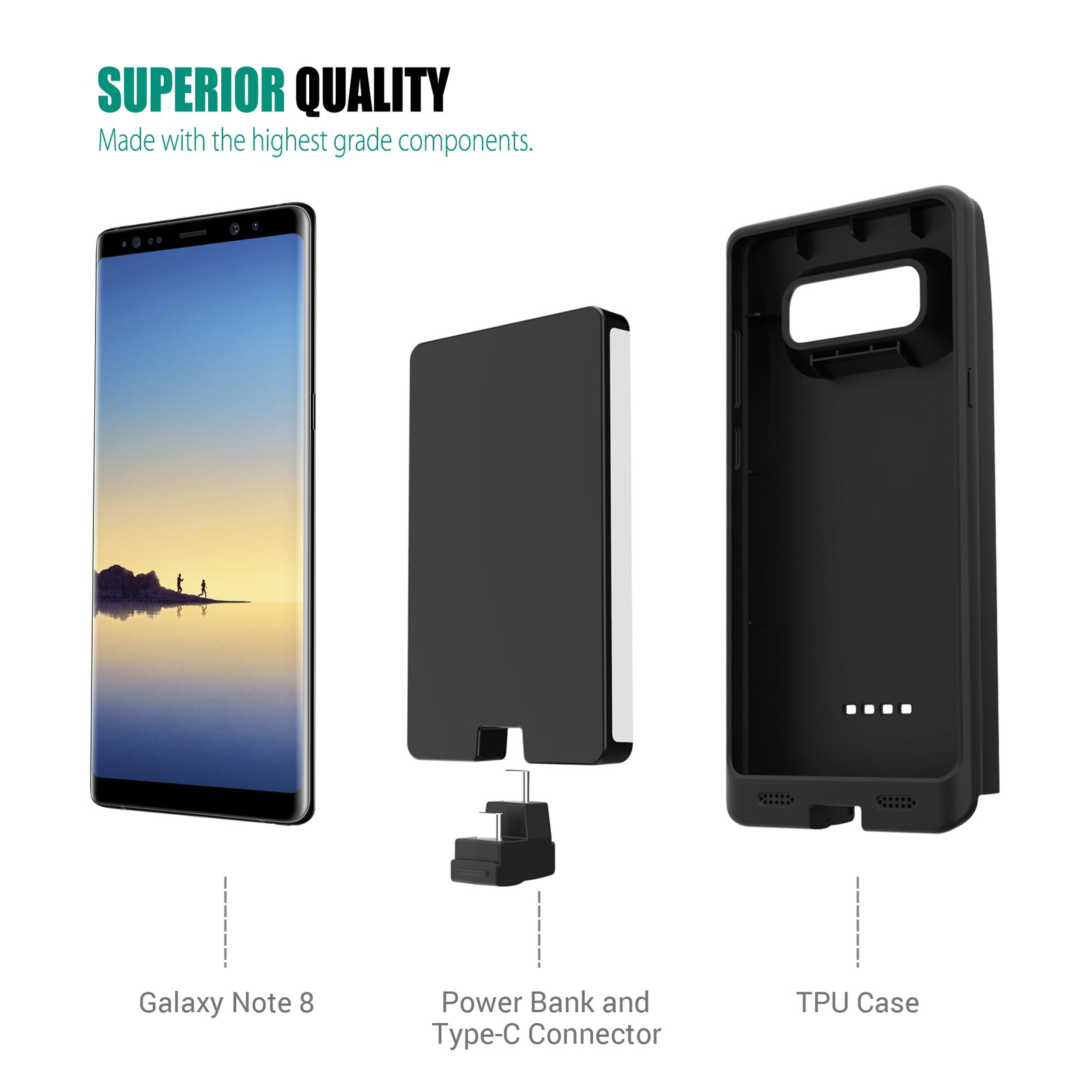 newest fa174 7eb05 Galaxy Note 8 Battery Case 10000mAh [To AU Only] - ZeroLemon