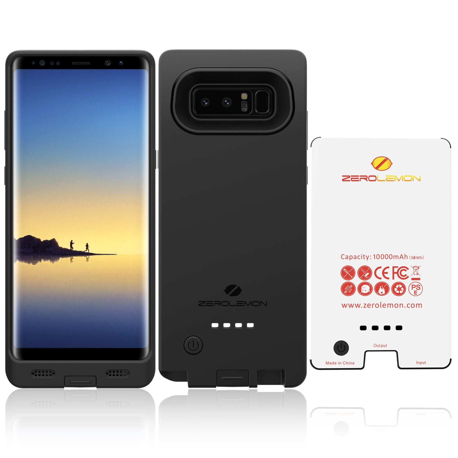 newest 161b7 fbb8e Galaxy Note 8 Battery Case 10000mAh [To AU Only] - ZeroLemon