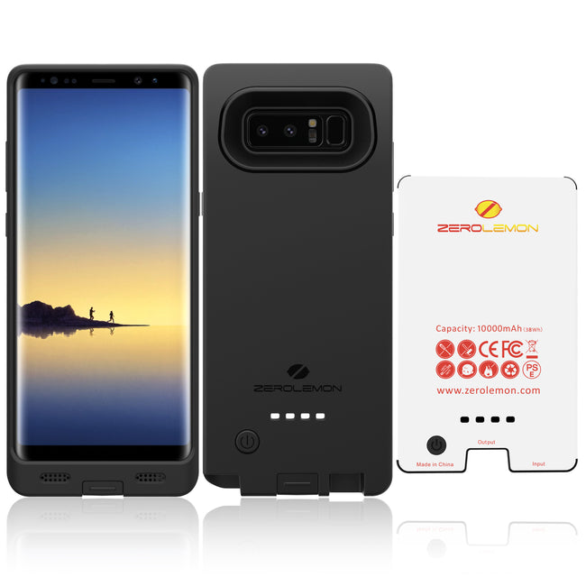 ZeroLemon Galaxy Note 8 Battery Case, 10000mAh Extended Rechargeable Battery with Soft TPU Protective Portable Case for Galaxy Note 8 [Shipping to Australia Only]- Black